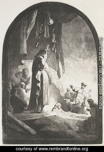 Rembrandt - The Raising of Lazarus Large Plate