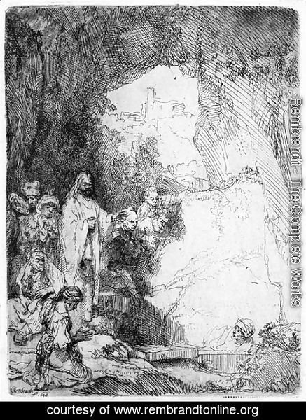 Rembrandt - The Raising of Lazarus Small plate