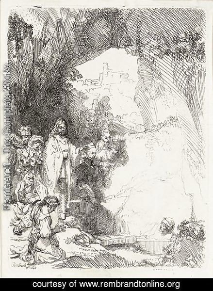 Rembrandt - The Raising of Lazarus Small Plate 2
