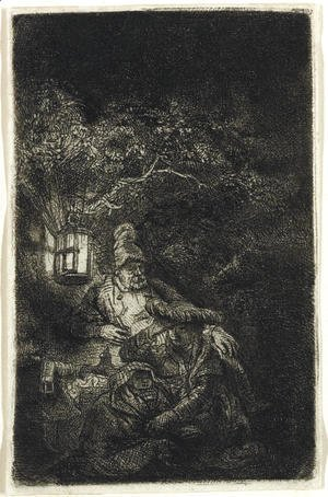 Rembrandt - The Rest on the Flight into Egypt A Night Piece
