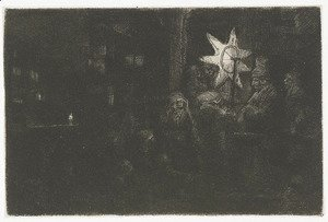 Rembrandt - The Star of the Kings A Night Piece