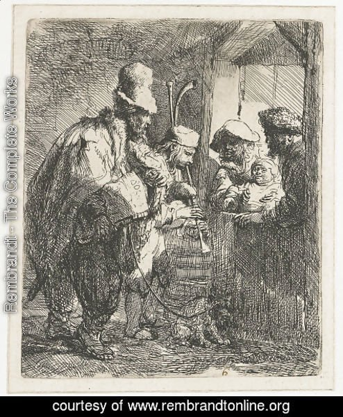 Rembrandt - The strolling Musicians