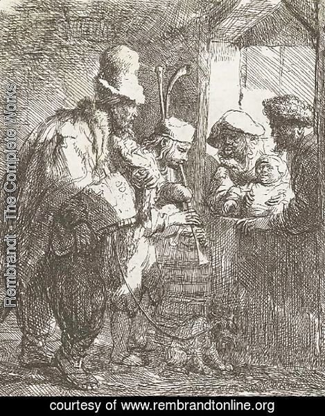 Rembrandt - The strolling Musicians 2
