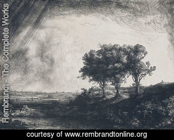 Rembrandt - The Three Trees