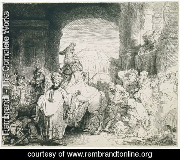 Rembrandt - The Triumph of Mordecai