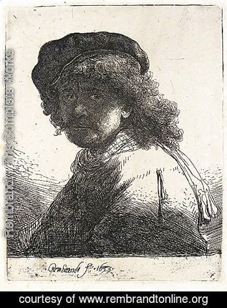 Rembrandt - Self-Portrait In A Cap And Scarf
