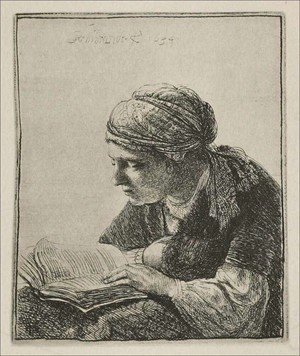 Rembrandt - Woman Reading