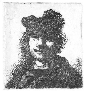 Rembrandt - Self Portrait In Cap And Dark Cloak Bust