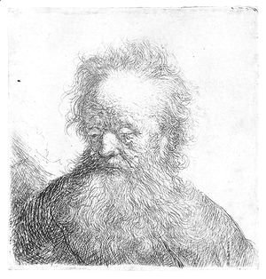 Rembrandt - Old Man With A Flowing Beard Bust