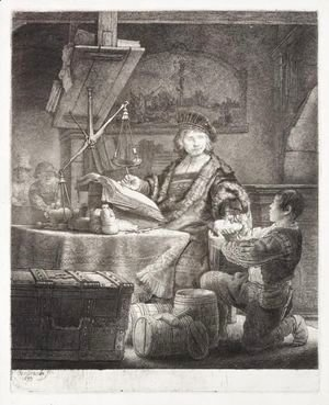 Rembrandt - Jan Uytenbogaert, The Goldweigher