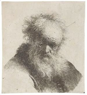 Rembrandt - Bust Of An Old Man With Flowing Beard And White Sleeve