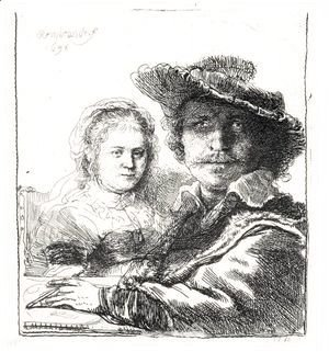 Rembrandt - Self Portrait With Saskia 2
