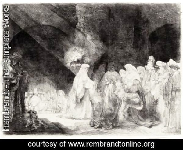 Rembrandt - Presentation In The Temple Oblong Plate