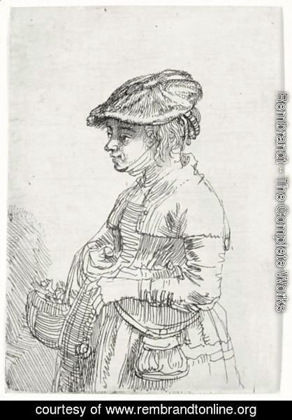 Rembrandt - Girl With A Basket