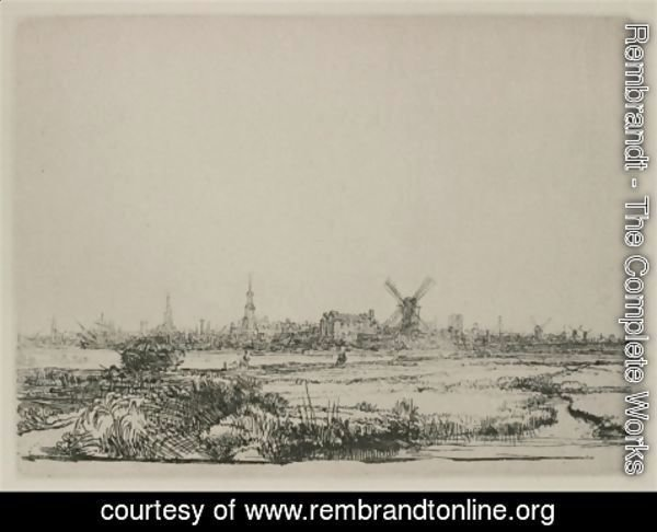 Rembrandt - A View Of Amsterdam From The North West