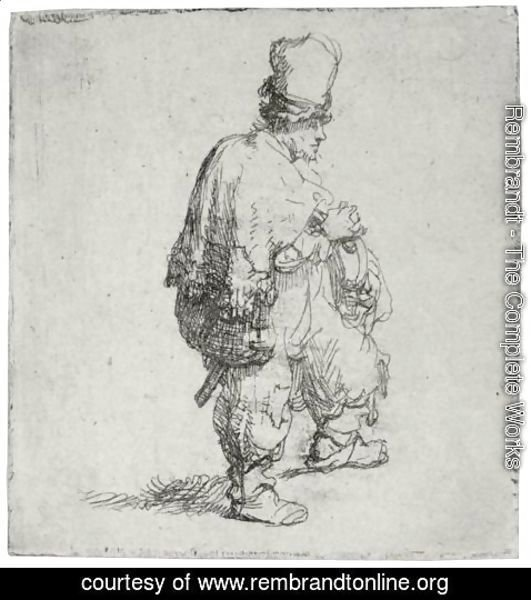 Rembrandt - Polander Standing With Arms Folded