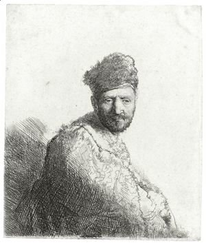 Rembrandt - Bearded Man In A Furred Oriental Cap And Robe The Artist's Father