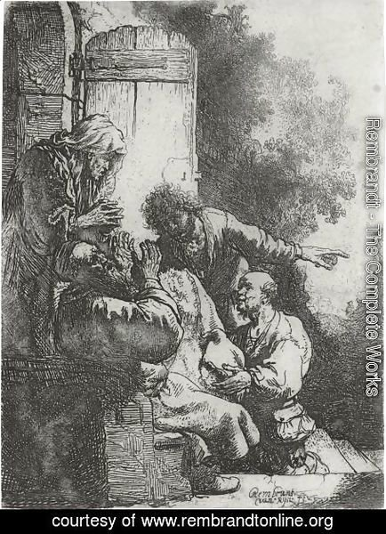 Rembrandt - Joseph's Coat Brought To Jacob 2