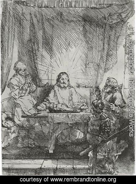 Christ At Emmaus The Larger Plate