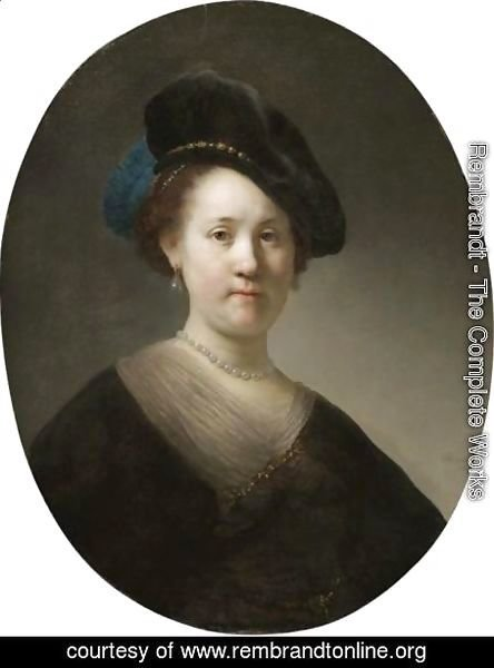 Portrait Of A Young Woman With A Black Cap
