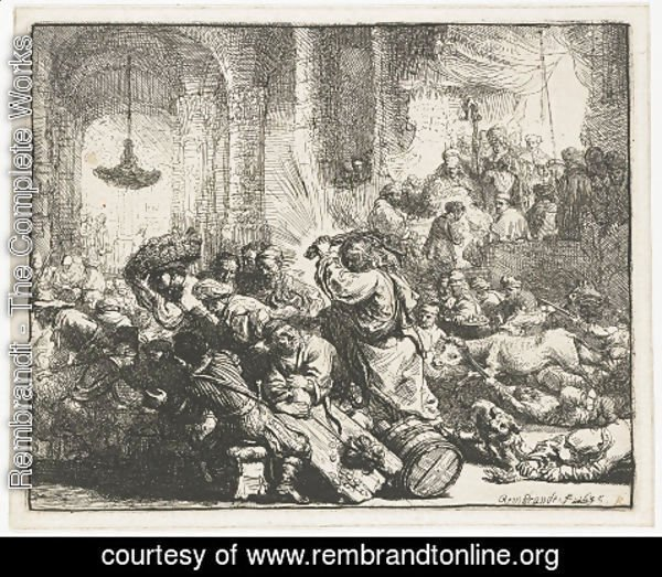 Rembrandt - Christ Driving The Money Changers From The Temple 3