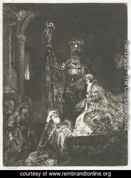 Rembrandt - The Presentation In The Temple In The Dark Manner