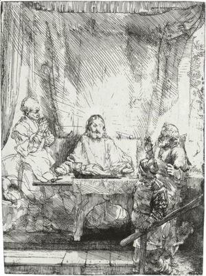 Rembrandt - Christ At Emmaus 2