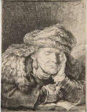 Rembrandt - Old Woman Sleeping