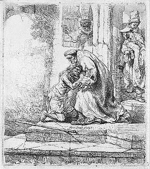 Rembrandt - The return of the prodigal son 2
