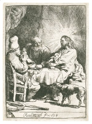 Rembrandt - Christ at Emmaus 3