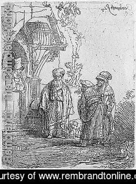 Rembrandt - Three oriental figures