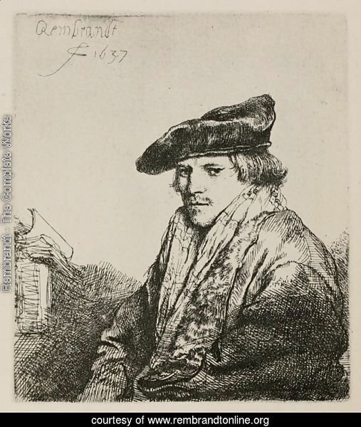 Young man in a velvet cap
