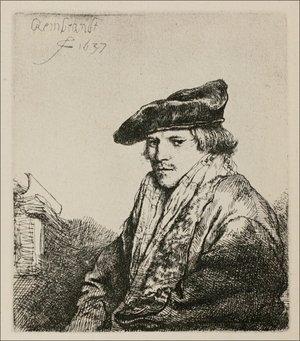 Rembrandt - Young man in a velvet cap