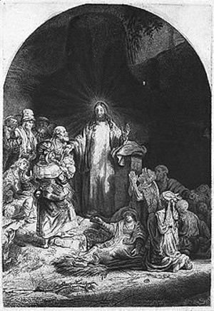 Rembrandt - Christ with people