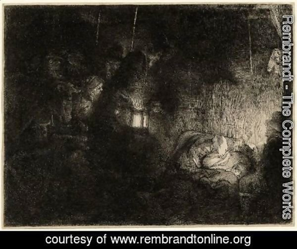 Rembrandt - The adoration of the shepherds, a night piece