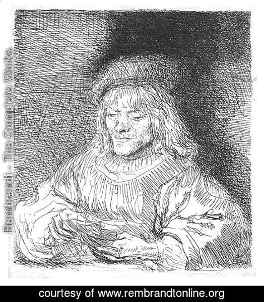 Rembrandt - The Card Player 2