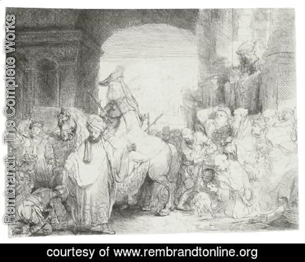 Rembrandt - The Triumph Of Mordecai 2