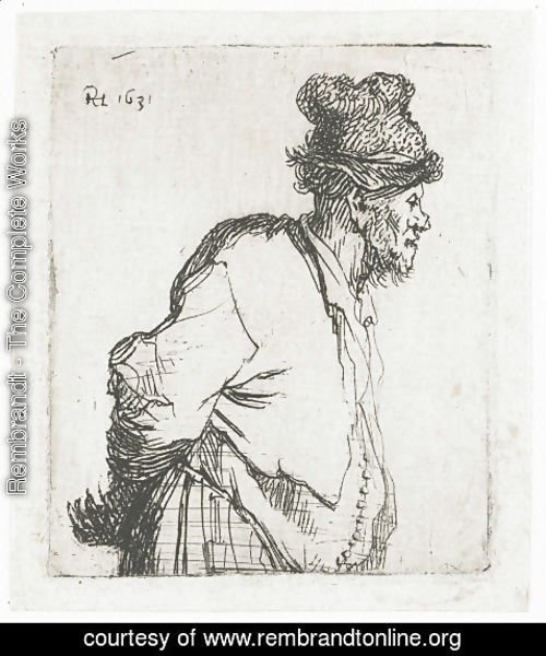 Rembrandt - Peasant With His Hands Behind His Back