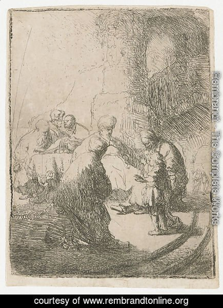 Rembrandt - Christ Disputing With The Doctors Small Plate