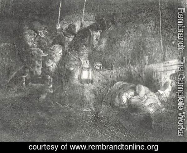 Rembrandt - The Adoration Of The Shepherds A Night Piece 2