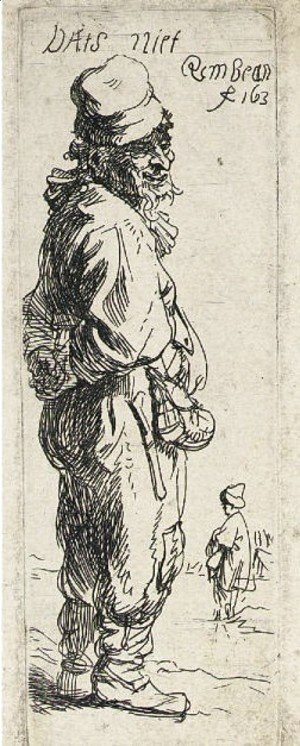 Rembrandt - A peasant replying 'dats niet'