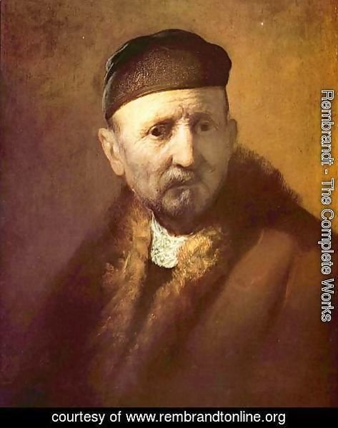 Rembrandt - Bust of an old man with a cap