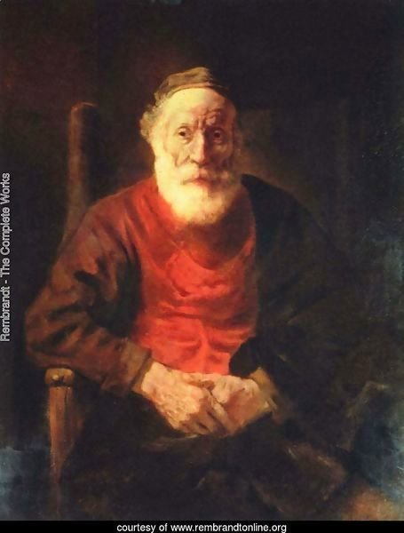 Old man in the armchair