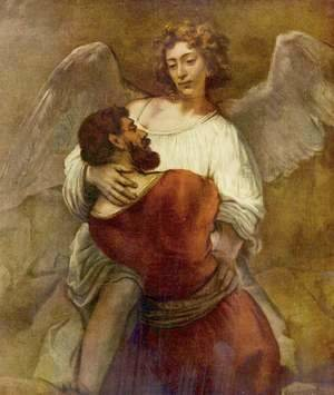 Rembrandt - Jacob Wrestling with the Angel