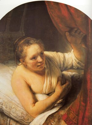 Rembrandt - Young woman in bed (possibly Geertje)