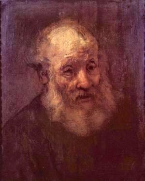 Rembrandt - Head of an old man