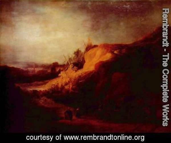 Rembrandt - Landscape with the Baptism of the eunuch