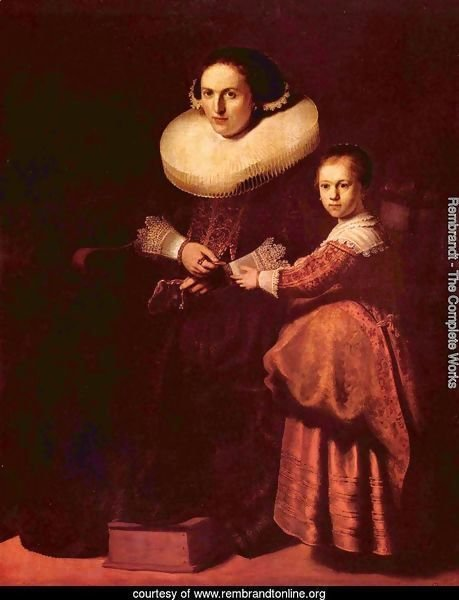 Portrait of Susanna and her daughter Eva Pellicone