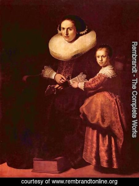 Rembrandt - Portrait of Susanna and her daughter Eva Pellicone