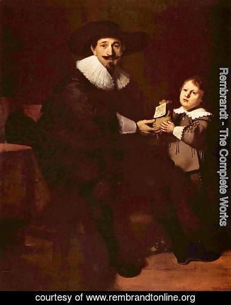 Rembrandt - Portrait of Jan and his son Caspar Pellicone